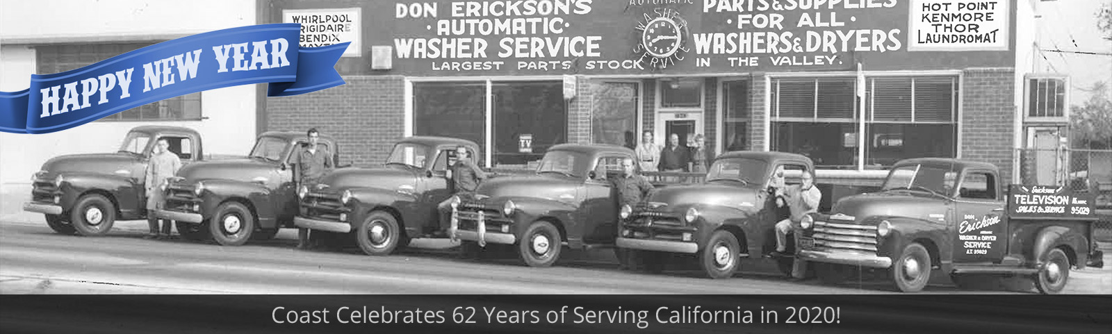 Happy New Year - Coast Celebrates 62 Years of Serving California