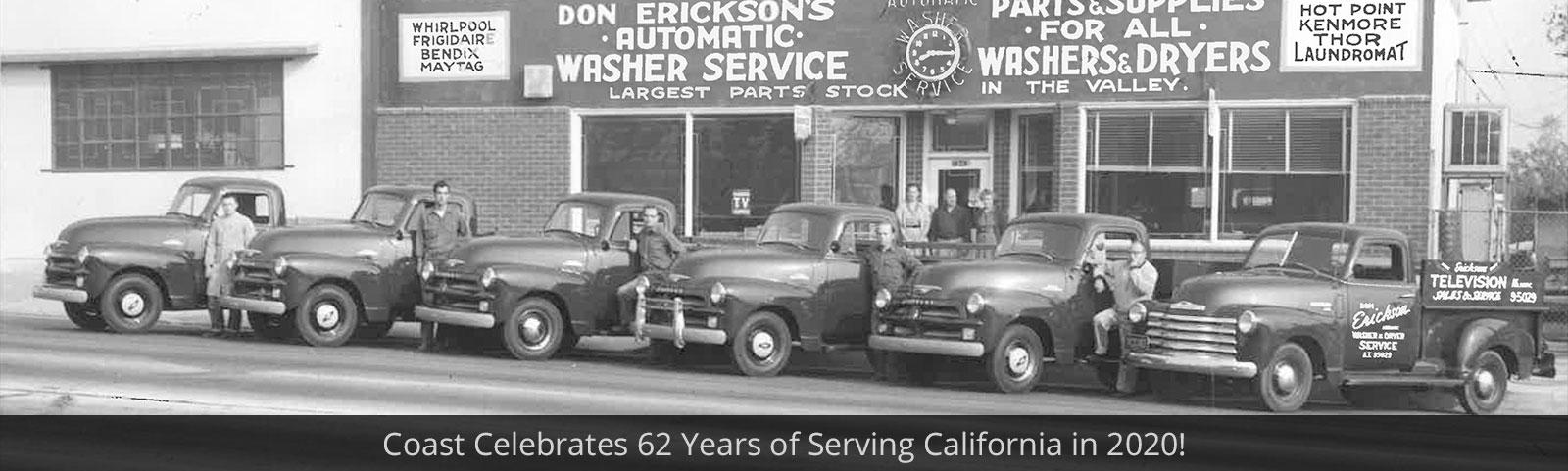 Coast Celebrates 62 Years of Serving California