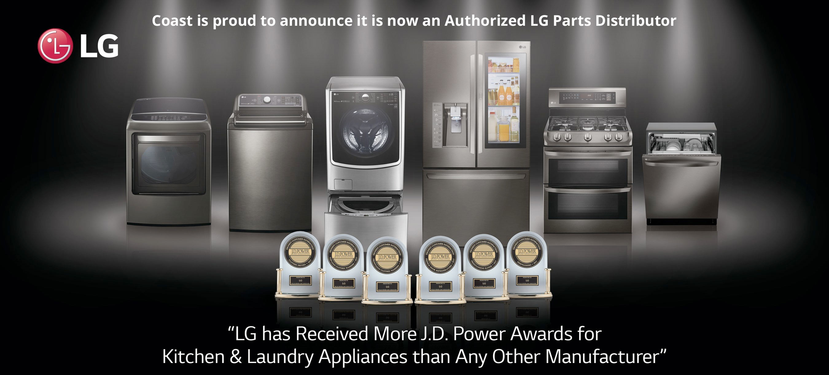 Coast is proud to announce it is now an Authorized LG Parts Distributor